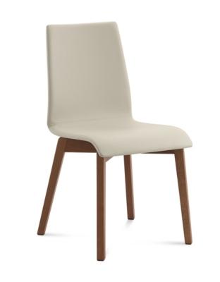 Lot de 2 chaises Jude, Pieds bois, DOMITALIA