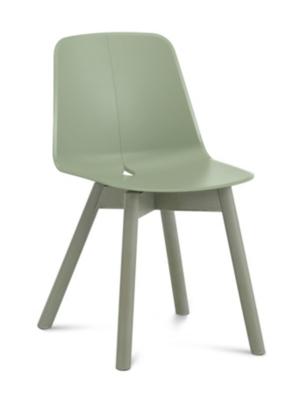 Lot de 2 chaises Dot, pieds bois, DOMITALIA