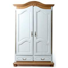 Armoire 2 portes 2 tiroirs Isidore