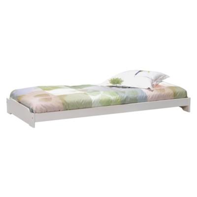 lit empilable wizzy 90 x 190 cm blanchi. Black Bedroom Furniture Sets. Home Design Ideas