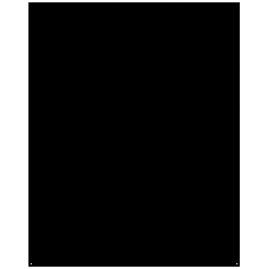 Plaque de sol Rectangle noire LE  MARQUIER