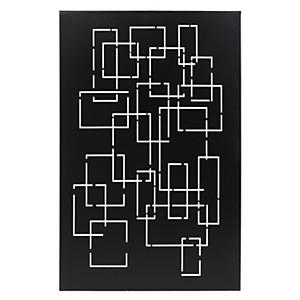 Plaque murale Géométrie noire LE  MARQUIER