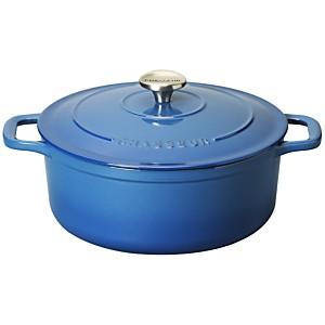 Cocotte en fonte ronde 28 cm Bleu Poséidon - Sublime