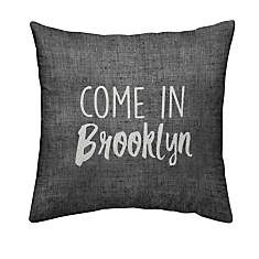 Coussin chambray Come in Brooklyn