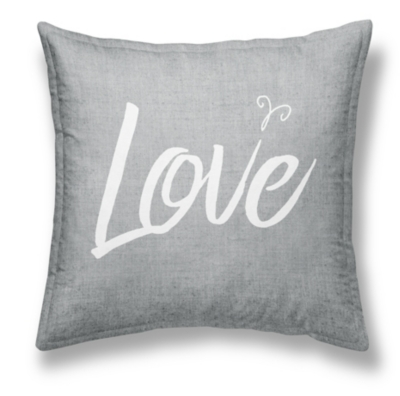 Coussin chambray Girl Love