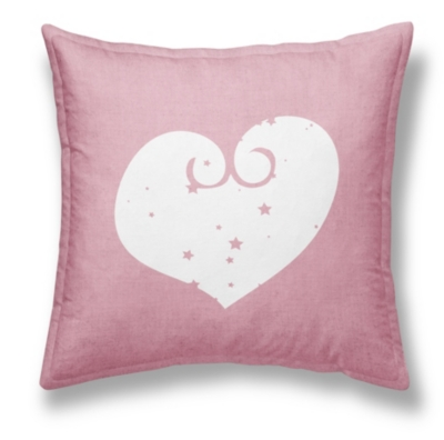 Coussin chambray Girl Heart