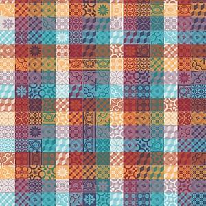 Tissu au mètre Mille Tiles GARNIER  THIEBAUT, Multicolore