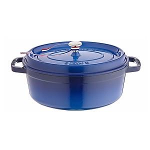 Cocotte fonte ovale STAUB 31 cm Bleu
