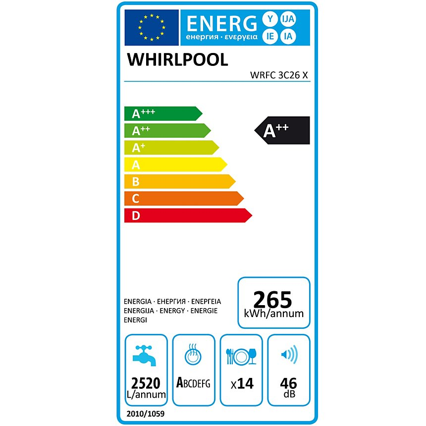 Lave-vaisselle WHIRLPOOL WRFC3C26