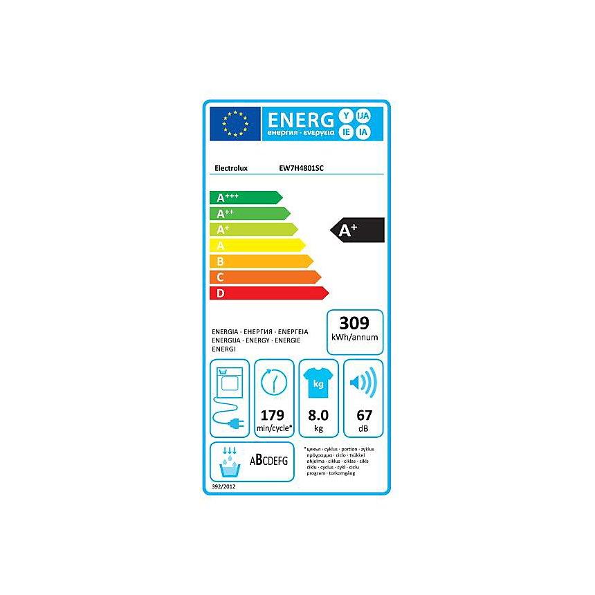 Sèche-linge frontal EW7H4801SC ELECTROLUX