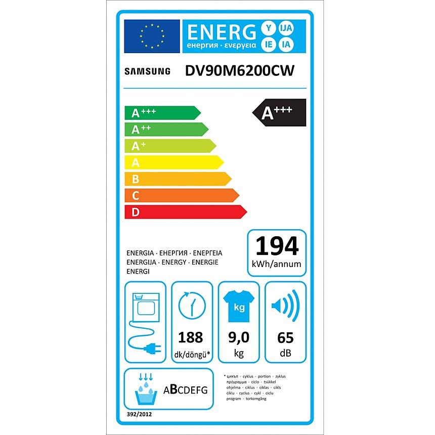 Sèche linge SAMSUNG DV90M6200CW  garanti 5 ans