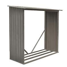 Bûcher en métal 6 x 2.5 m aspect bois  v