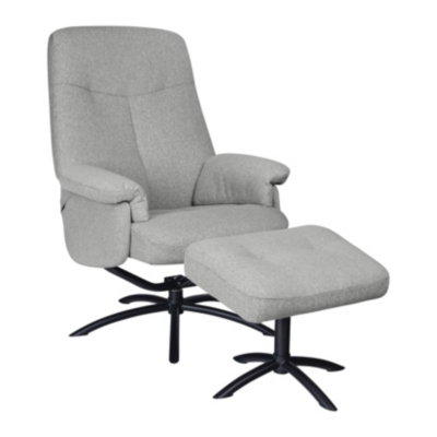 Fauteuil relax + Pouf Neo tissu
