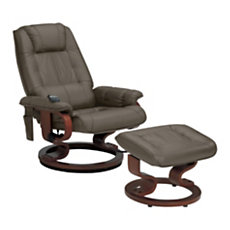 Fauteuil relax massant cuir Cama...
