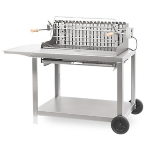 Barbecue sur chariot Exclusive Irissarry  78 x 32 Inox LE MARQUIER