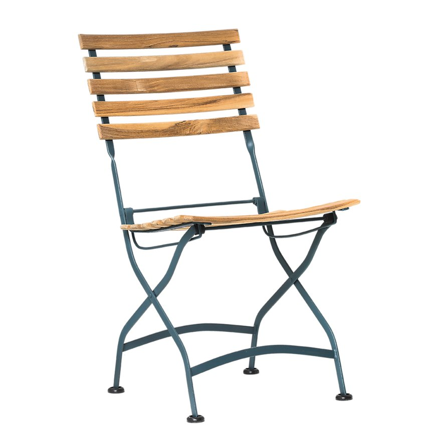Lot de 2 chaises pliantes en métal et  acacia