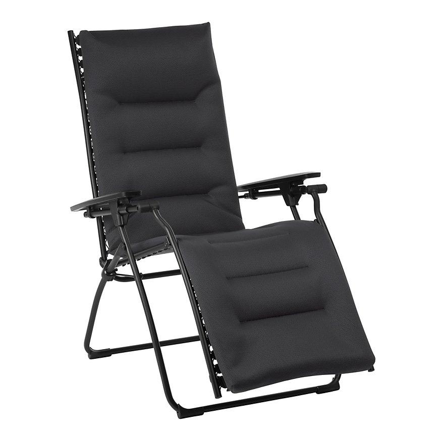 Fauteuil relax Evolution Air Comfort  coloris acier LAFUMA