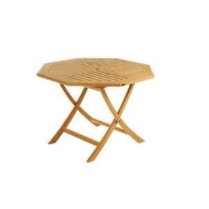 Table octogonale pliante en teck massif  brut