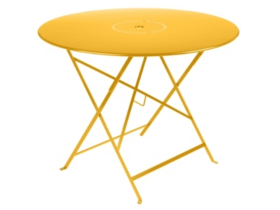 Table pliante ronde FERMOB FLOREAL  Ø 96 cm, avec trou parasol, coloris au
