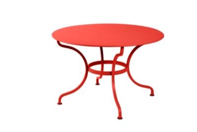 Table ronde Romane FERMOB Ø 117 cm  démontable, couleur au choix
