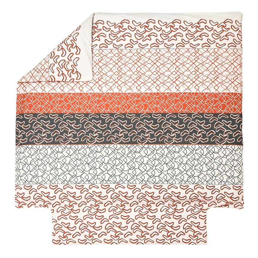 Housse de couette Variations BLANC DES  VOSGES, Orange