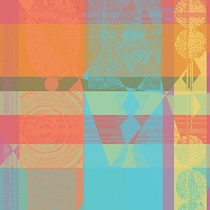 Lot de 4 serviettes de table Mille  Tiangari GARNIER THIEBAUT