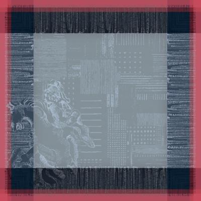 Lot de 4 serviettes de table Parisienne  GARNIER THIEBAUT, Ardoise