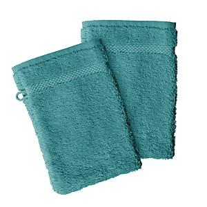 Lot de 2 gants de toilette coton bio  AQUANATURA
