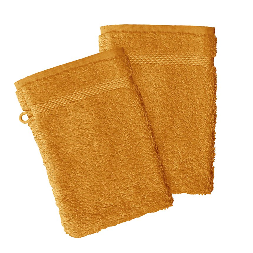 Lot de 2 gants de toilette coton bio  AQUANATURA