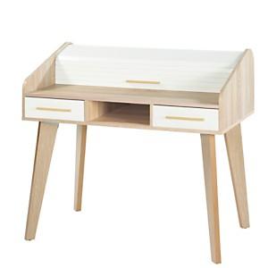 Bureau Chêne 2 tiroirs TWIST