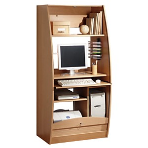 Bureaux camif for Meuble bureau hetre