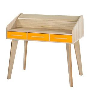 Bureau Chêne 3 tiroirs TWIST