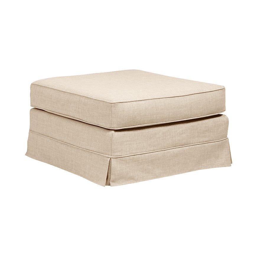 Pouf tissu coton déhoussable Naxos