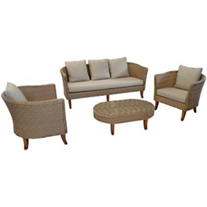 Ensemble Avani composé de 2 fauteuils,  1 canapé et 1 table basse PRO LOISIRS