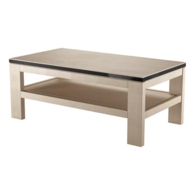 Table basse 1 tablette, Alliage