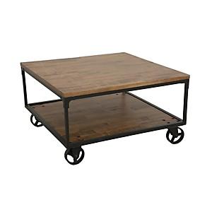 Table basse carrée sur roulettes  Industry