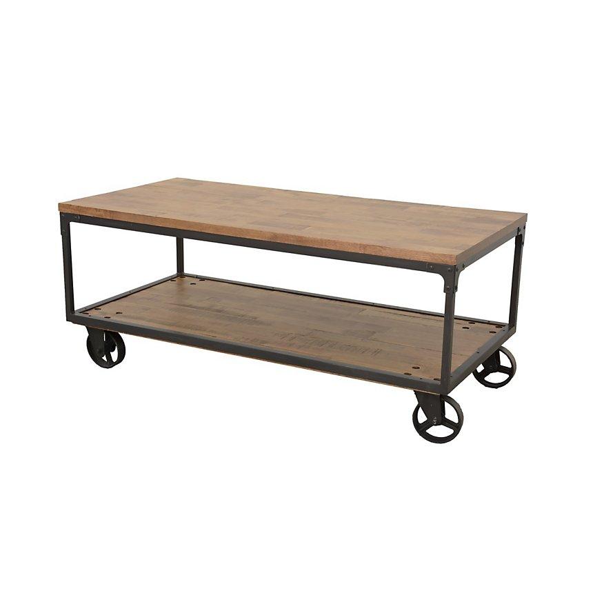 Table basse rectangulaire sur roulettes  Industry