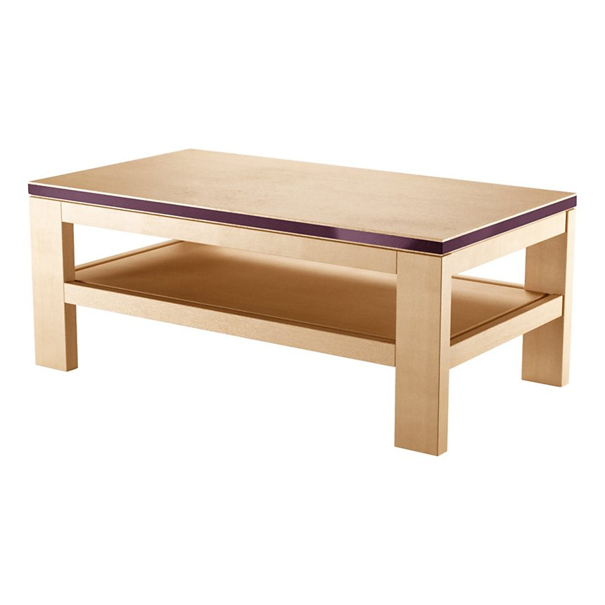 Table basse 1 tablette, Alliage