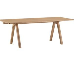 Table rectangulaire à allonges Chevron