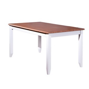 Table de séjour Inata, brun sépia/blanc