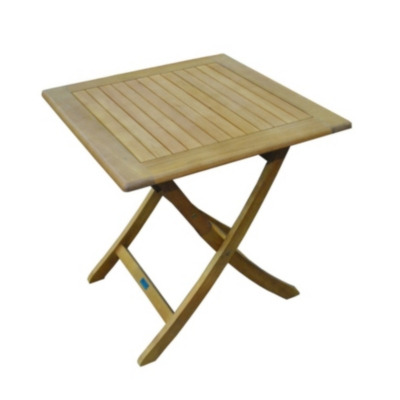 Table Sophie 70 en Eucalyptus finition  imitation teck Pro Loisirs