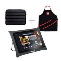 Tablette QOOQ Ultimate grise + housse +