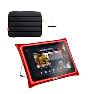 Tablette QOOQ ULTIMATE rouge + housse
