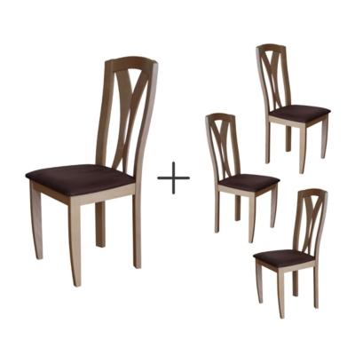 Lot de 4 chaises Panama, aulne c...
