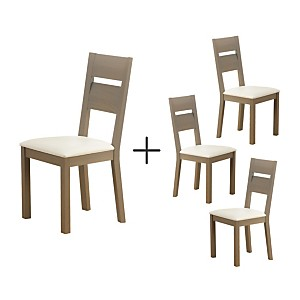 Lot de 4 chaises Sacey