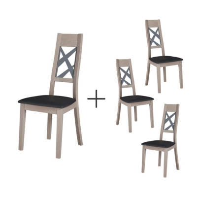 Lot de 4 chaises Salhia