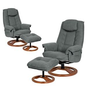 Lot de 2 fauteuils relax tissu antitache NEC