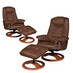 Lot de 2 fauteuils relax microfibre NEC