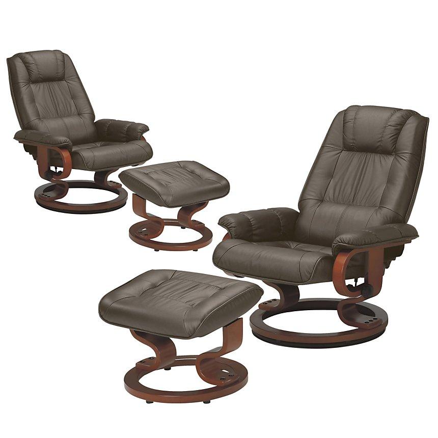 Lot de 2 fauteuils relax cuir Camaïeu