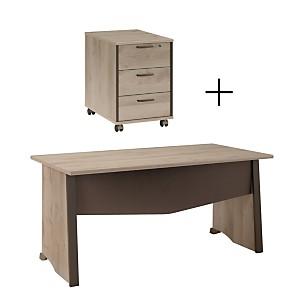 Ensemble bureau + caisson 3 tiroirs Greg